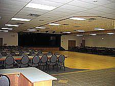 Main Hall - 325 Sit Down Capacity,             400 Theater Style Capacity