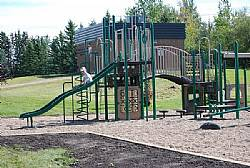 Full Playground Behind the Hall.
